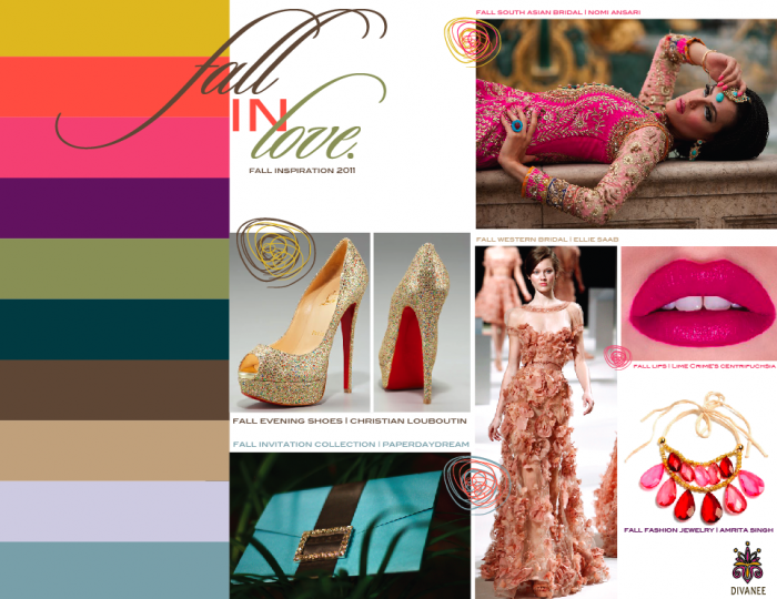 Color Centric Inspiration Board Fall 2011 Paper Daydream